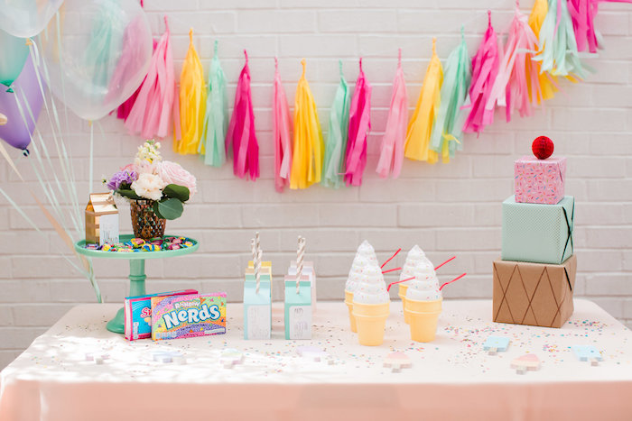 Ice Cream Party Table from an Ice Cream Truck Birthday Party on Kara's Party Ideas | KarasPartyIdeas.com (14)