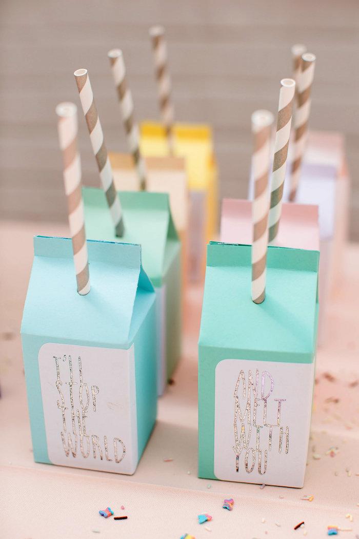 Milk cartons from an Ice Cream Truck Birthday Party on Kara's Party Ideas | KarasPartyIdeas.com (12)