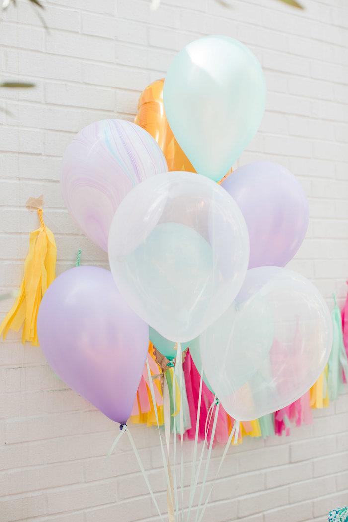 Balloon bunch from an Ice Cream Truck Birthday Party on Kara's Party Ideas | KarasPartyIdeas.com (10)