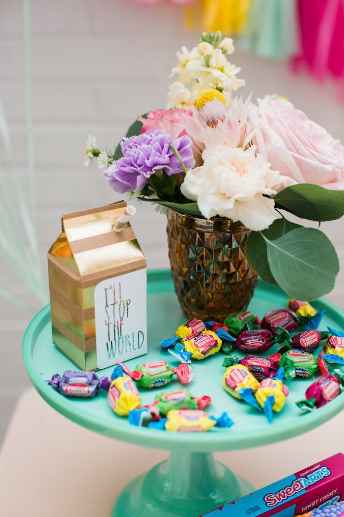 Candy pedestal from an Ice Cream Truck Birthday Party on Kara's Party Ideas | KarasPartyIdeas.com (9)