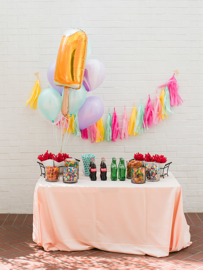 Party table from an Ice Cream Truck Birthday Party on Kara's Party Ideas | KarasPartyIdeas.com (8)