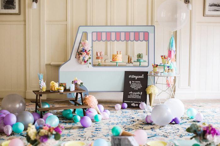 Ice Cream Truck Birthday Party on Kara's Party Ideas | KarasPartyIdeas.com (34)