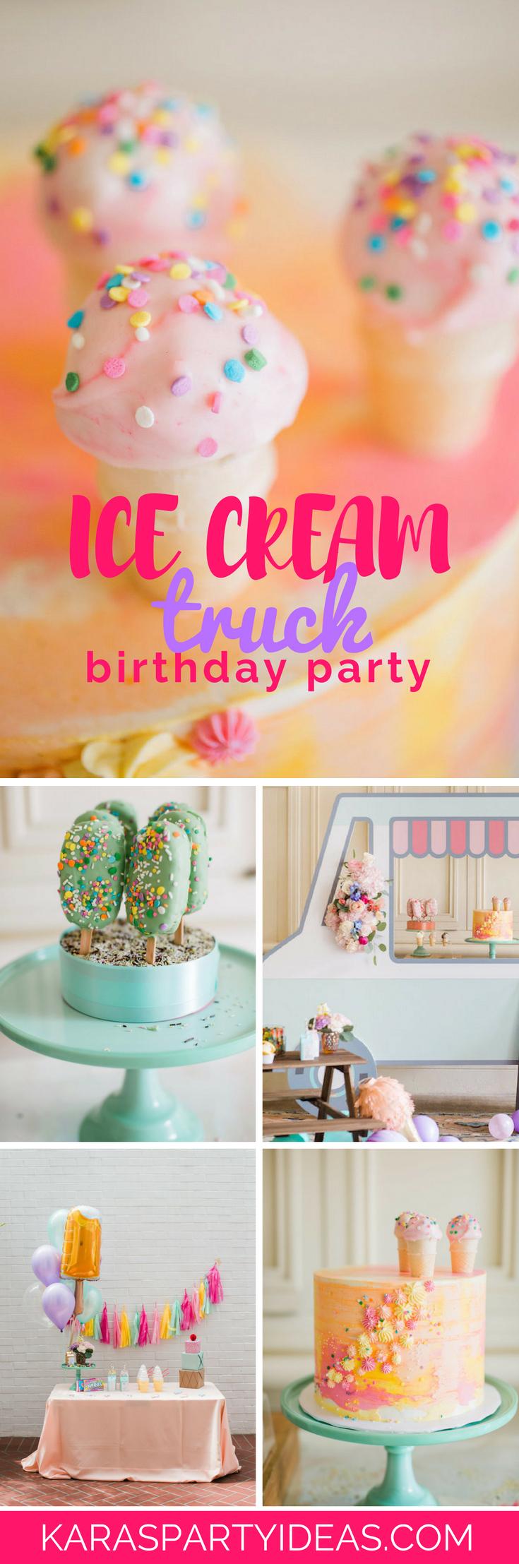 Ice Cream Truck Birthday Party via Kara's Party Ideas - KarasPartyIdeas.com