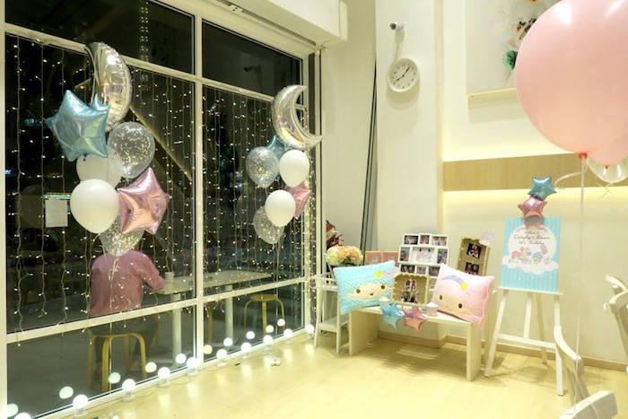 Decor from a Little Star Twins Birthday Party on Kara's Party Ideas | KarasPartyIdeas.com (10)
