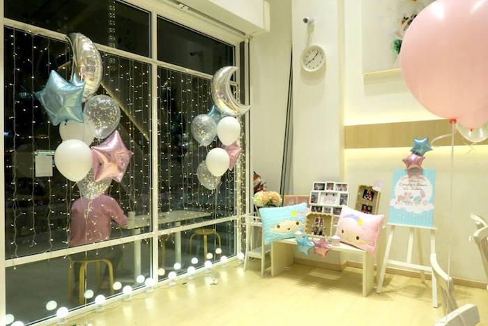 Decor from a Little Star Twins Birthday Party on Kara's Party Ideas | KarasPartyIdeas.com (10)