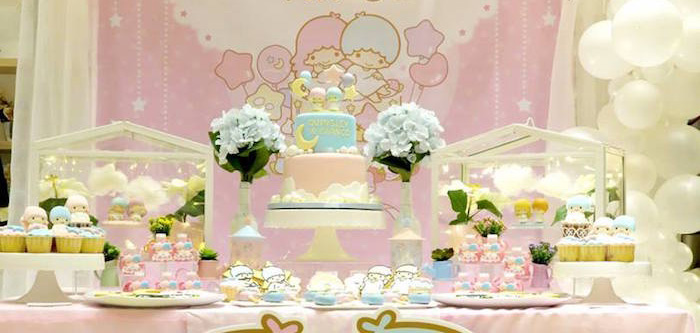 Little Star Twins Birthday Party on Kara's Party Ideas | KarasPartyIdeas.com (3)
