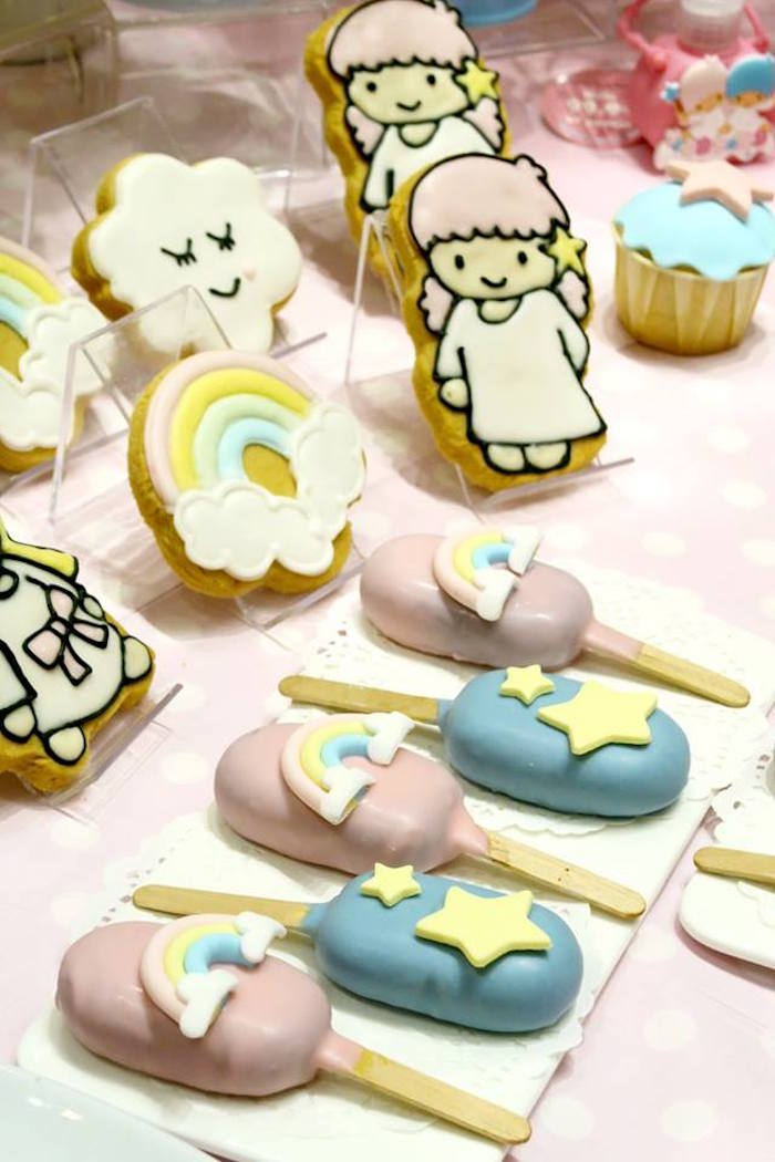 Cookies and popsicle cake pops from a Little Star Twins Birthday Party on Kara's Party Ideas | KarasPartyIdeas.com (19)