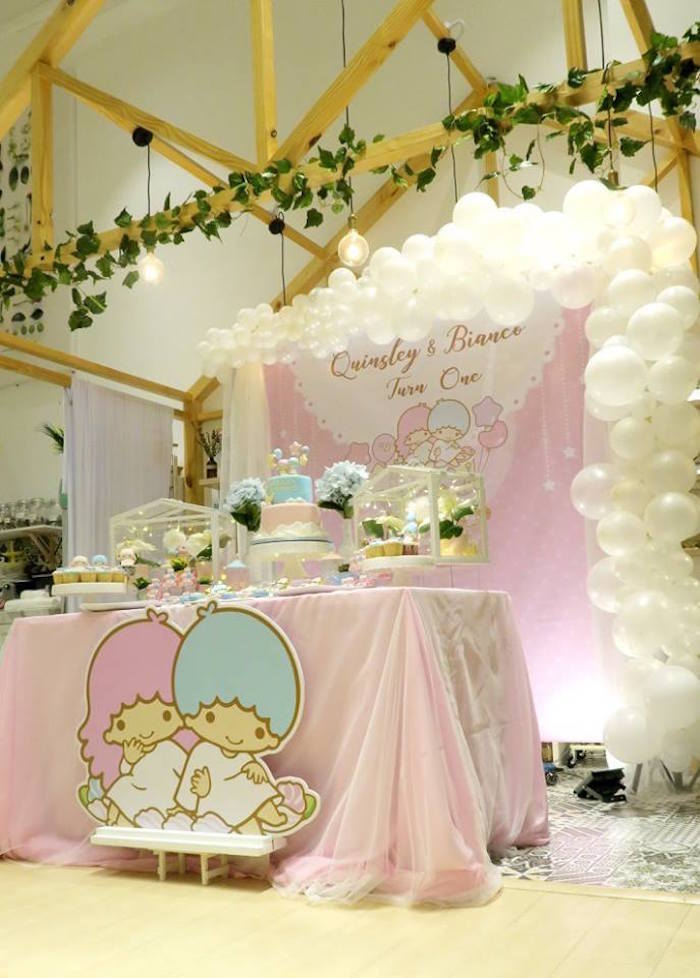 Little Star Twins Birthday Party on Kara's Party Ideas | KarasPartyIdeas.com (18)