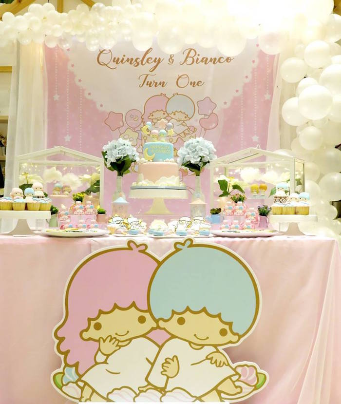 Little Star Twins Birthday Party on Kara's Party Ideas | KarasPartyIdeas.com (17)