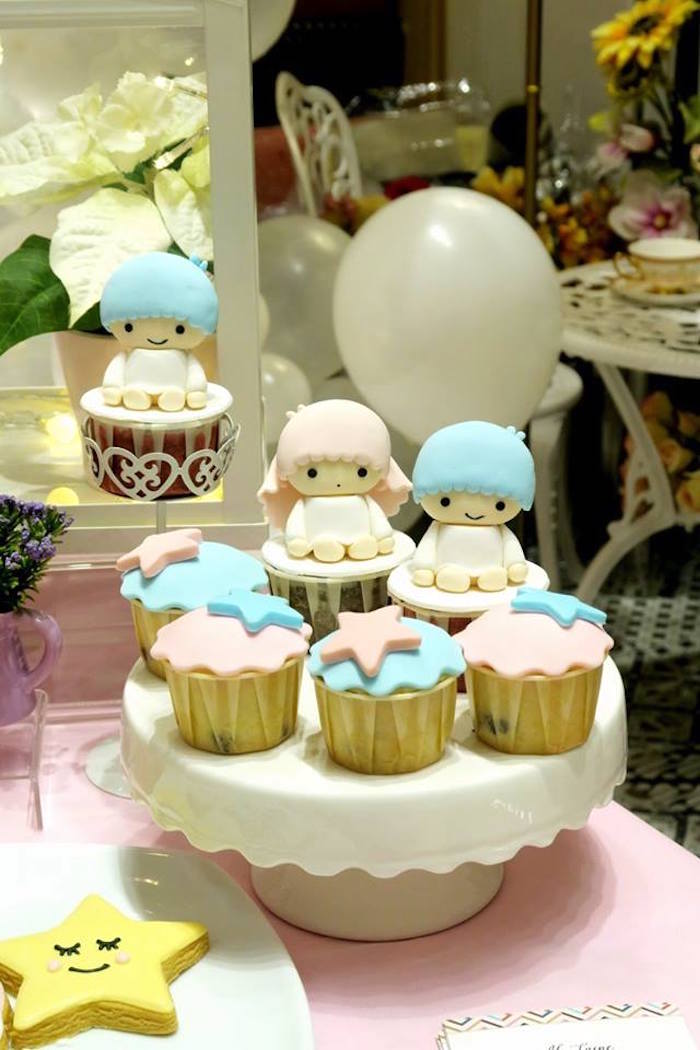 Cupcakes from a Little Star Twins Birthday Party on Kara's Party Ideas | KarasPartyIdeas.com (15)