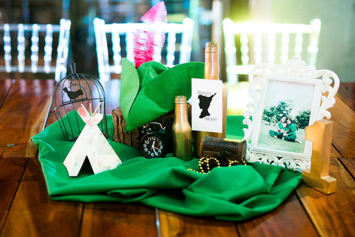 Peter Pan Themed Guest Table from a Magical Neverland Birthday Party on Kara's Party Ideas | KarasPartyIdeas.com (8)
