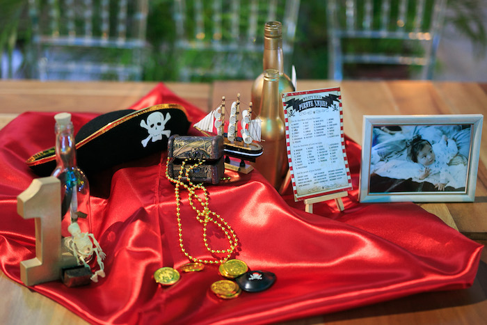 Hook Themed Guest Table from a Magical Neverland Birthday Party on Kara's Party Ideas | KarasPartyIdeas.com (7)