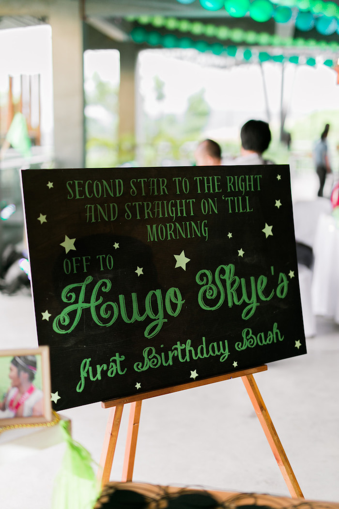 Second Star to the Right Signage from a Magical Neverland Birthday Party on Kara's Party Ideas | KarasPartyIdeas.com (14)