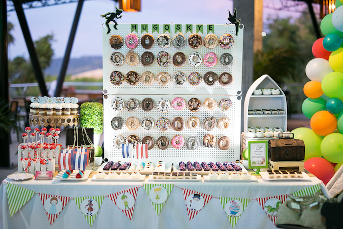 Sweet table from a Magical Neverland Birthday Party on Kara's Party Ideas | KarasPartyIdeas.com (9)