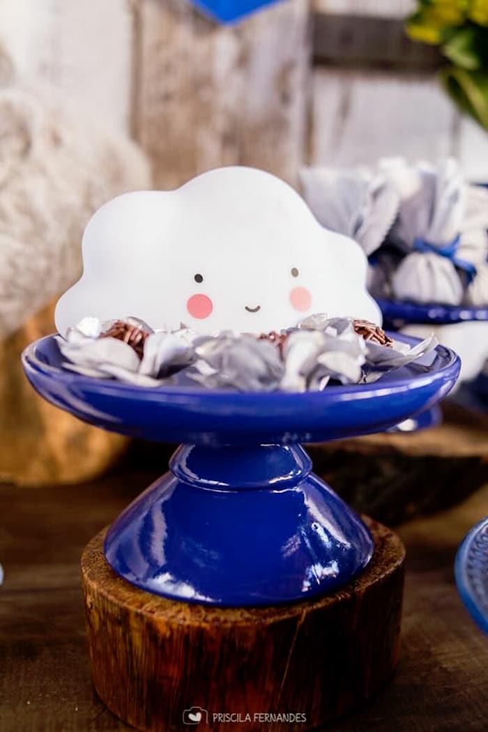 Dessert pedestal from a Modern Koala Baby Shower on Kara's Party Ideas | KarasPartyIdeas.com (12)