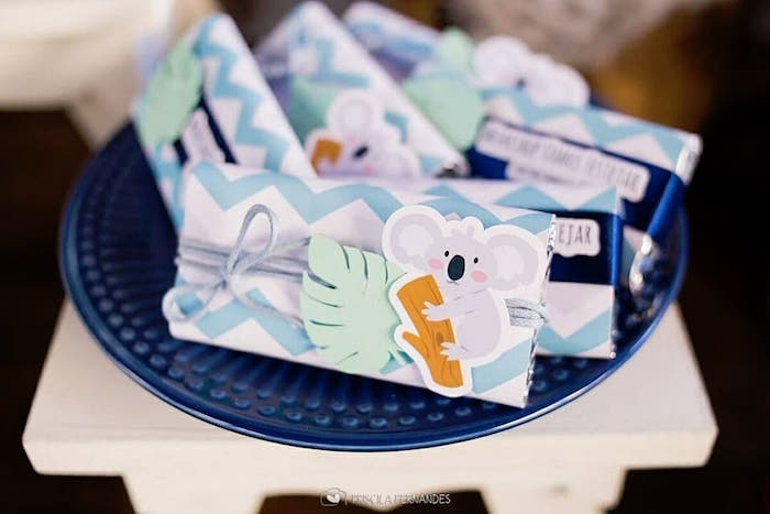 Koala candy bars from a Modern Koala Baby Shower on Kara's Party Ideas | KarasPartyIdeas.com (9)