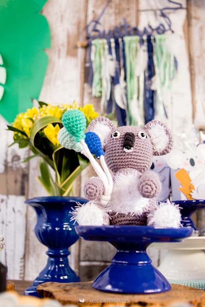Crocheted koala from a Modern Koala Baby Shower on Kara's Party Ideas | KarasPartyIdeas.com (8)