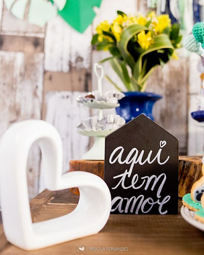Decor + signage from a Modern Koala Baby Shower on Kara's Party Ideas | KarasPartyIdeas.com (5)