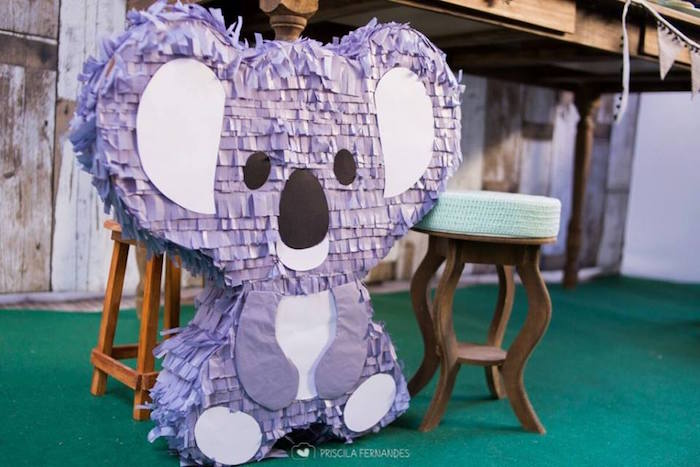 Koala Bear Pinata from a Modern Koala Baby Shower on Kara's Party Ideas | KarasPartyIdeas.com (21)