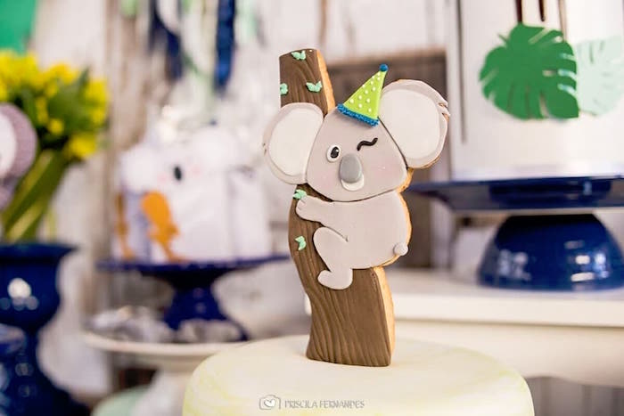Koala Cake Topper from a Modern Koala Baby Shower on Kara's Party Ideas | KarasPartyIdeas.com (20)