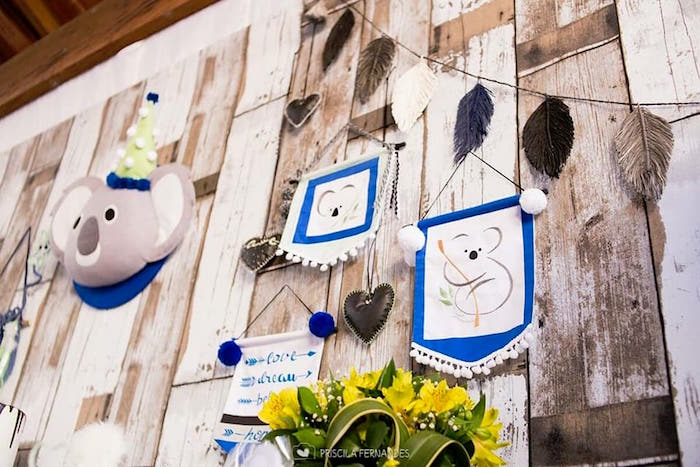 Backdrop from a Modern Koala Baby Shower on Kara's Party Ideas | KarasPartyIdeas.com (17)