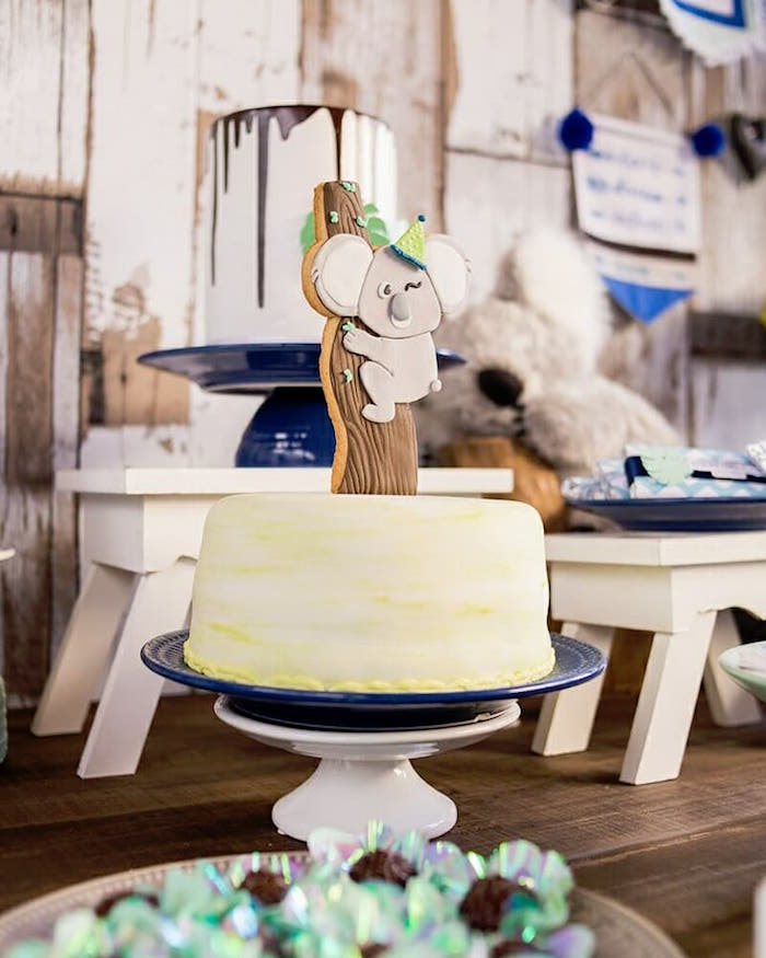 Koala Cake from a Modern Koala Baby Shower on Kara's Party Ideas | KarasPartyIdeas.com (15)