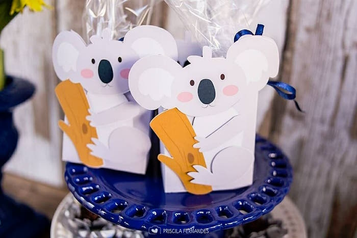 Koala Bear Boxes from a Modern Koala Baby Shower on Kara's Party Ideas | KarasPartyIdeas.com (14)
