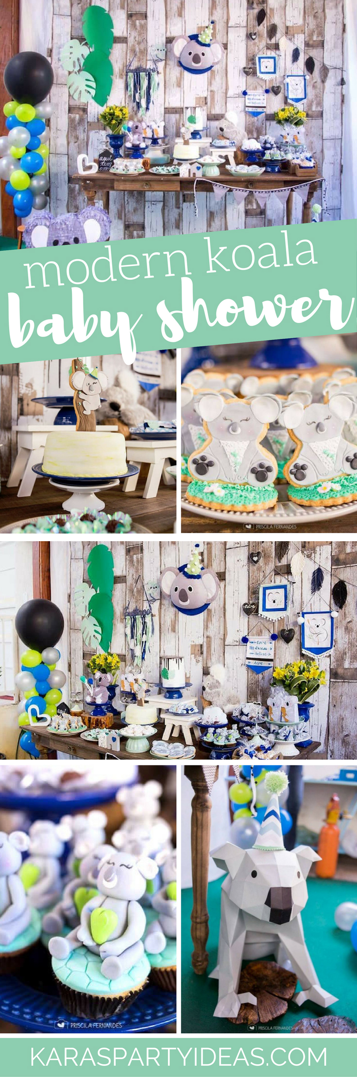 Modern Koala Baby Shower via Kara's Party Ideas - KarasPartyIdeas.com