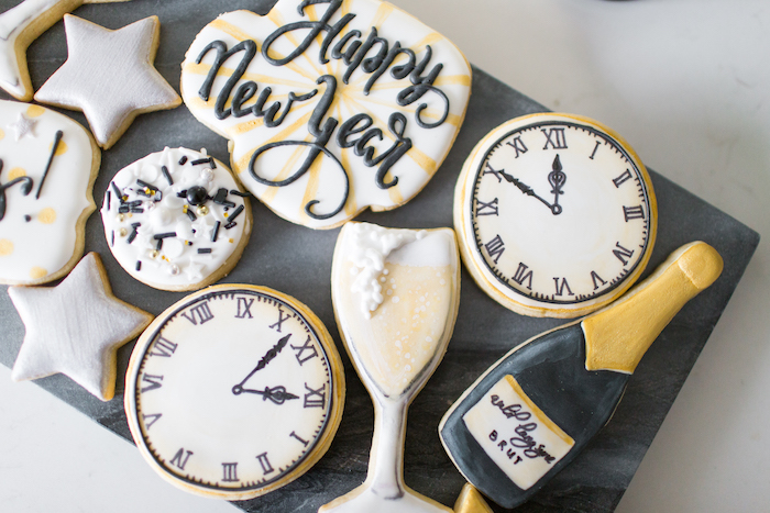 Cookies from a NYE Cookies & Bubbly Party on Kara's Party Ideas | KarasPartyIdeas.com (20)