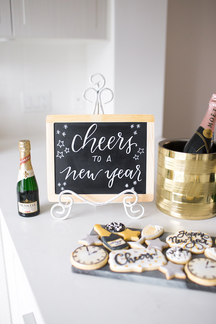 Cookie table from a NYE Cookies & Bubbly Party on Kara's Party Ideas | KarasPartyIdeas.com (18)