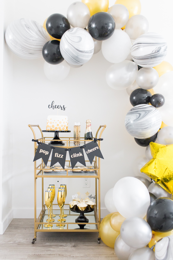 NYE Cookies & Bubbly Party on Kara's Party Ideas | KarasPartyIdeas.com (17)