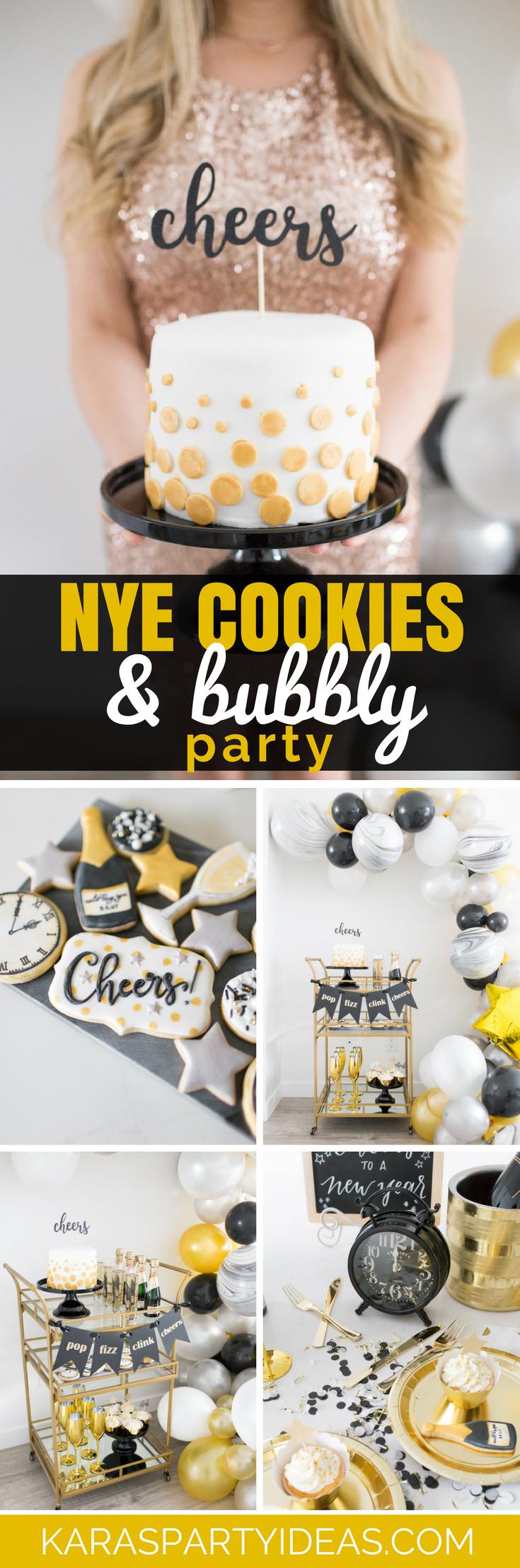 NYE Cookies and Bubbly Party via Kara's Party Ideas - KarasPartyIdeas.com