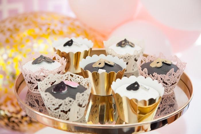 Cupcakes from a NYE Masquerade Slumber Party on Kara's Party Ideas | KarasPartyIdeas.com (23)