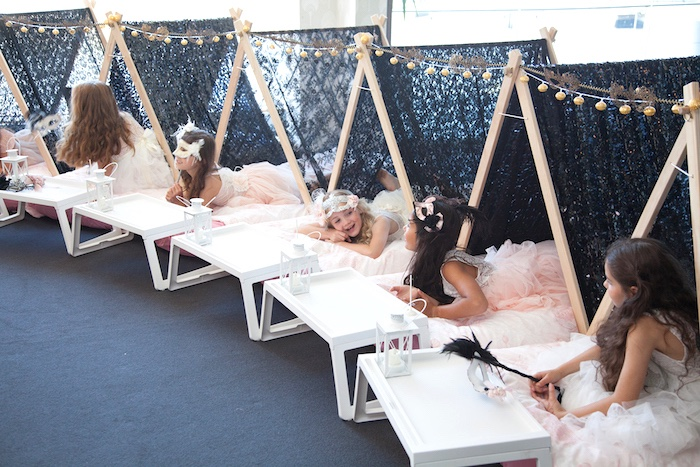Tentscape from a NYE Masquerade Slumber Party on Kara's Party Ideas | KarasPartyIdeas.com (11)
