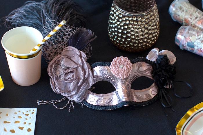 Masquerade Mask from a NYE Masquerade Slumber Party on Kara's Party Ideas | KarasPartyIdeas.com (36)