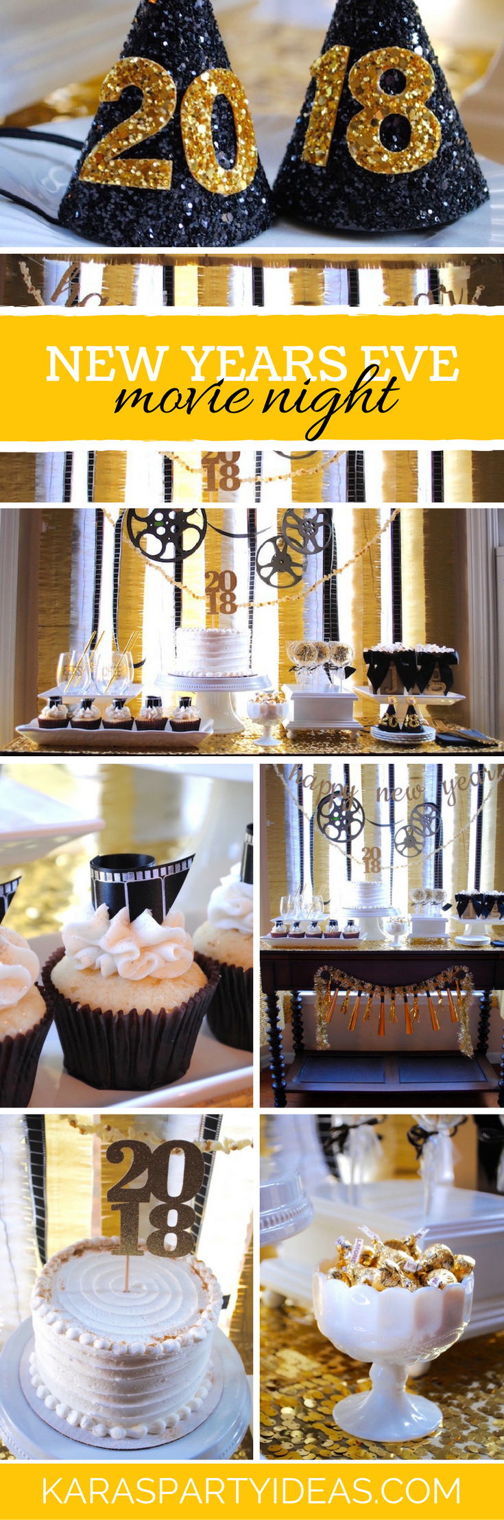 NYE Movie Night Party via Kara's Party Ideas - KarasPartyIdeas.com