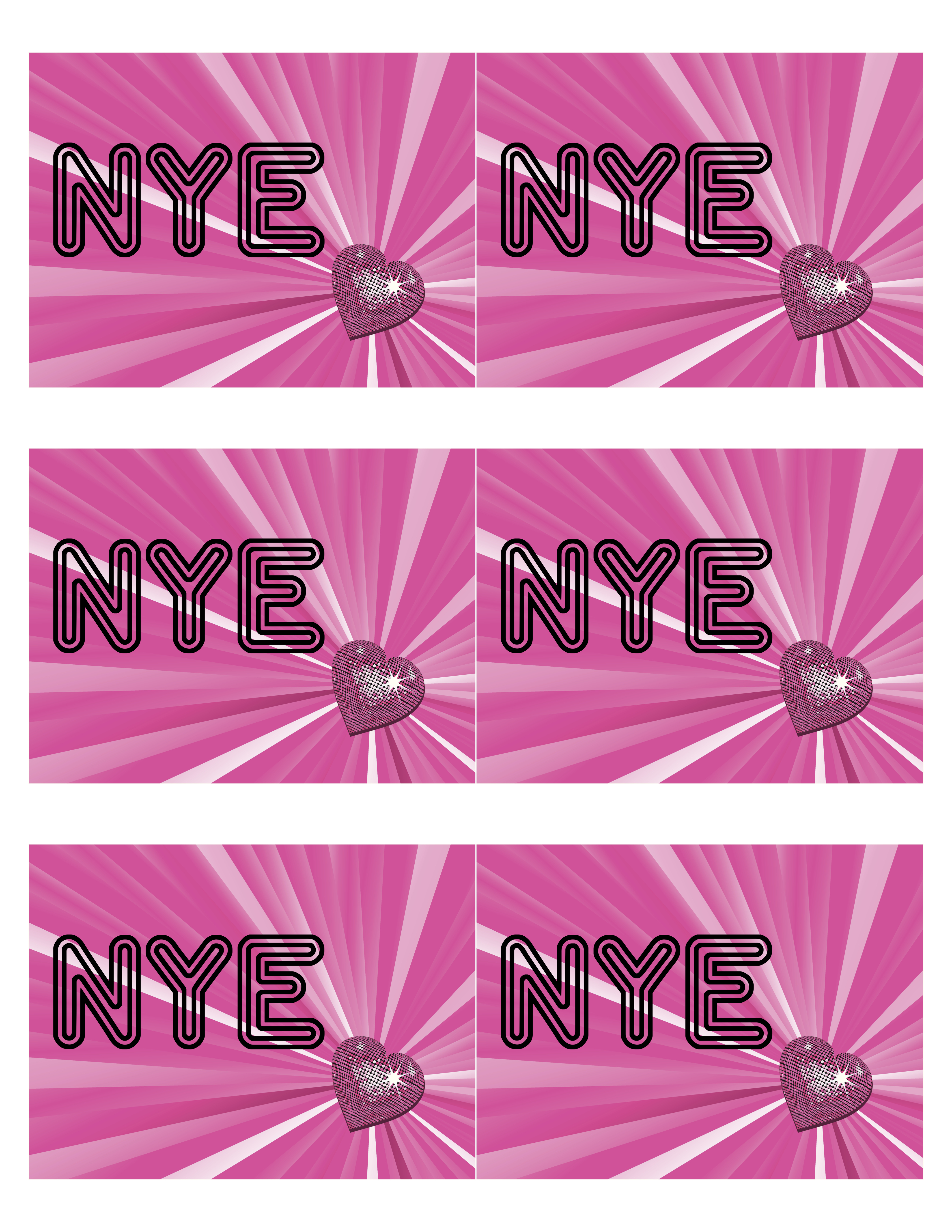 Kara\'s Party Ideas New Year\'s Eve Disco Party! FREE NYE Printables ...