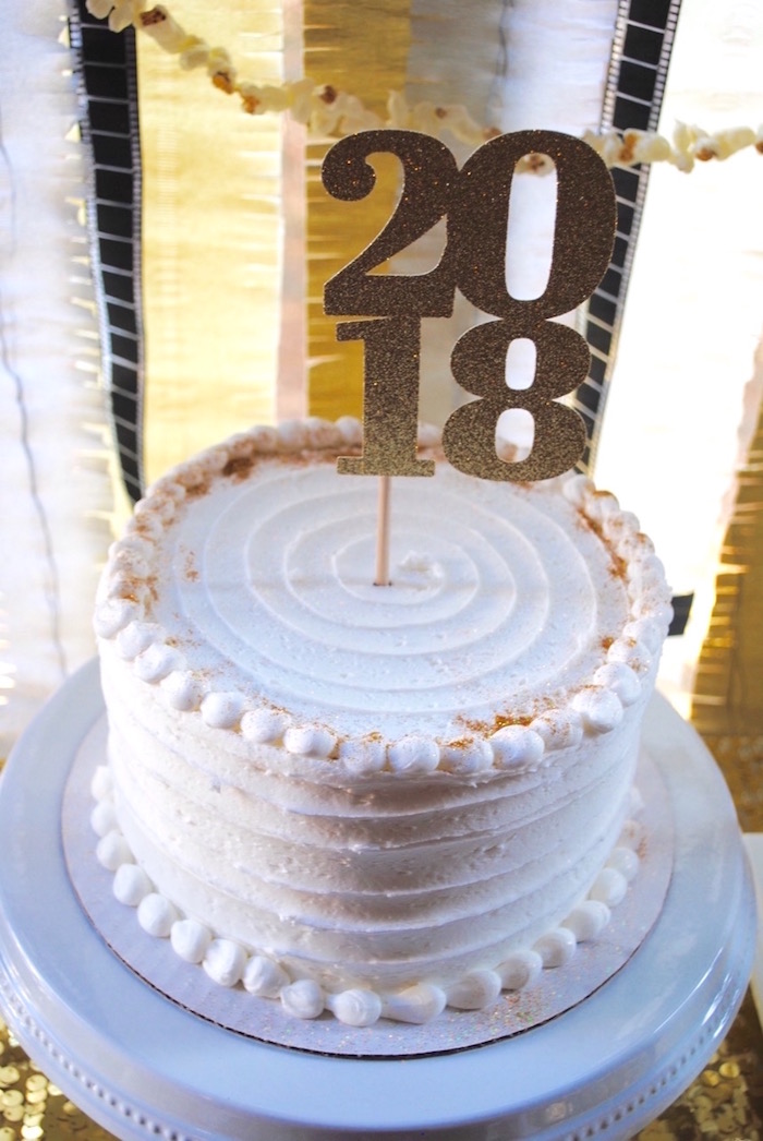 Cake from a NYE Movie Night on Kara's Party Ideas | KarasPartyIdeas.com
