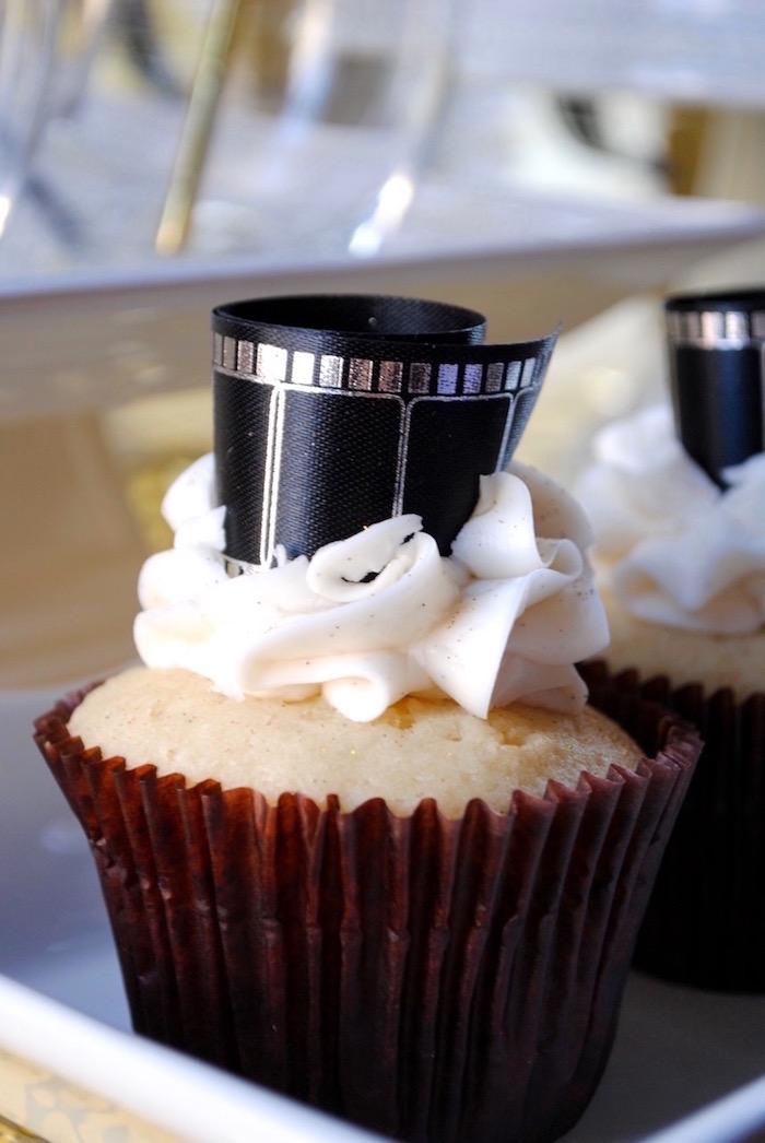 Film reel cupcake from a NYE Movie Night on Kara's Party Ideas | KarasPartyIdeas.com