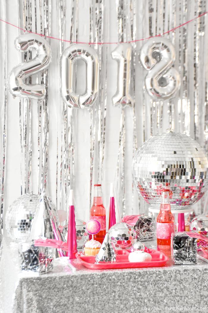 New Year's Eve Disco Party! FREE NYE Teen Printables! By Kara's Party Ideas | Kara Allen | KarasPartyIdeas.com
