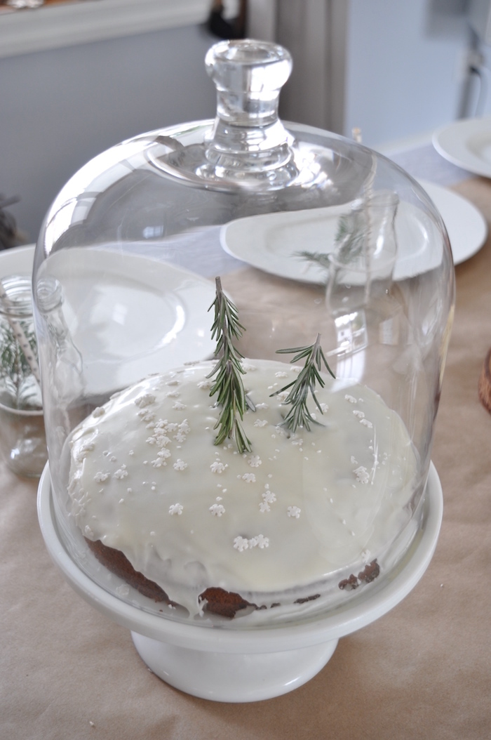 Winter tree cake from a Nordic Winter Cookie Decorating Party on Kara's Party Ideas | KarasPartyIdeas.com (12)