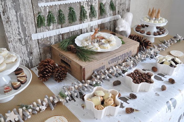 Sweet tablescape from a Nordic Winter Cookie Decorating Party on Kara's Party Ideas | KarasPartyIdeas.com (7)