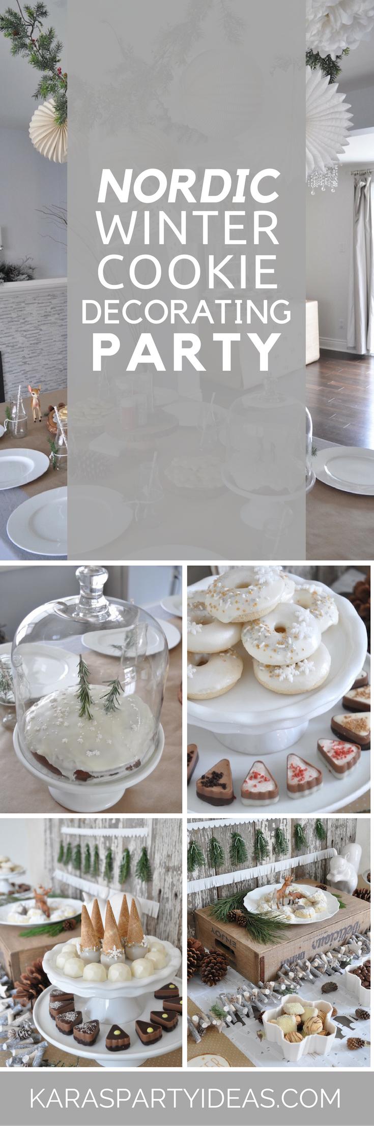 Nordic Winter Cookie Decorating Party via Kara's Party Ideas - KarasPartyIdeas.com