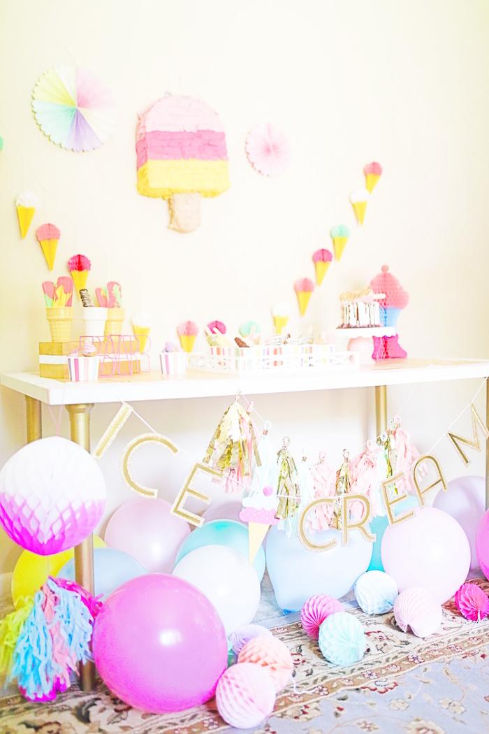 Outdoor Ice Cream Bar Party on Kara's Party Ideas | KarasPartyIdeas.com (25)