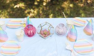 Guest tabletop from an Outdoor Ice Cream Bar Party on Kara's Party Ideas | KarasPartyIdeas.com (23)