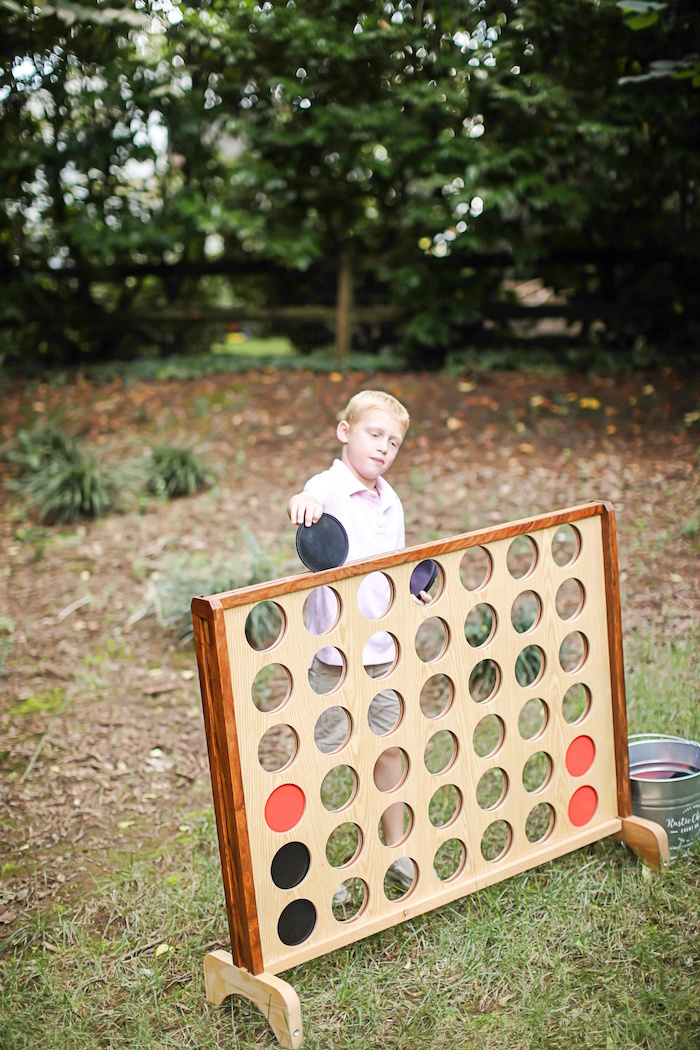 Connect Four from an Outdoor Ice Cream Bar Party on Kara's Party Ideas | KarasPartyIdeas.com (10)