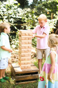Giant Jenga from an Outdoor Ice Cream Bar Party on Kara's Party Ideas | KarasPartyIdeas.com (8)