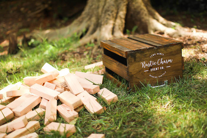 Giant Jenga from an Outdoor Ice Cream Bar Party on Kara's Party Ideas | KarasPartyIdeas.com (6)
