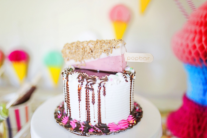 Popsicle drip cake from an Outdoor Ice Cream Bar Party on Kara's Party Ideas | KarasPartyIdeas.com (33)