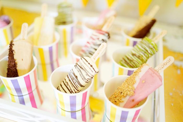 Custom popsicles from an Outdoor Ice Cream Bar Party on Kara's Party Ideas | KarasPartyIdeas.com (32)